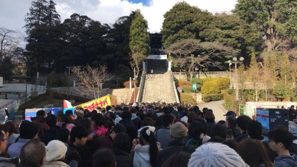 二荒山神社の混雑