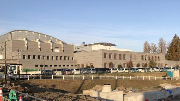 宇都宮市内東図書館の建物全景