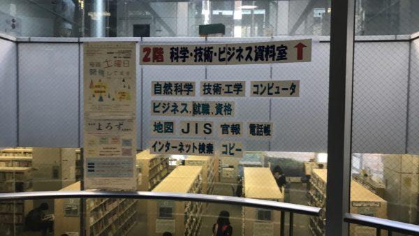 宇都宮東図書館の2階案内