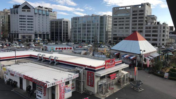 宇都宮餃子館東口イベント広場店は3つの建物