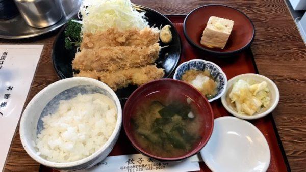 餃子会館の串カツランチ