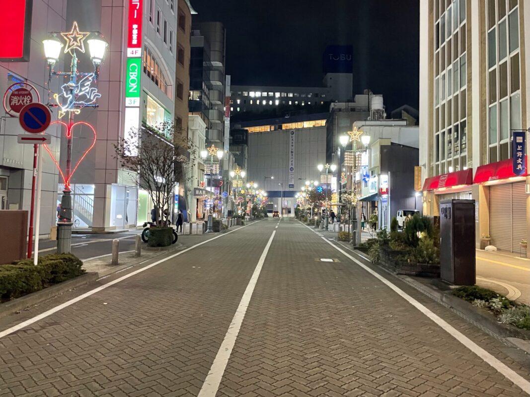 東武宇都宮百貨店前のイルミネーション
