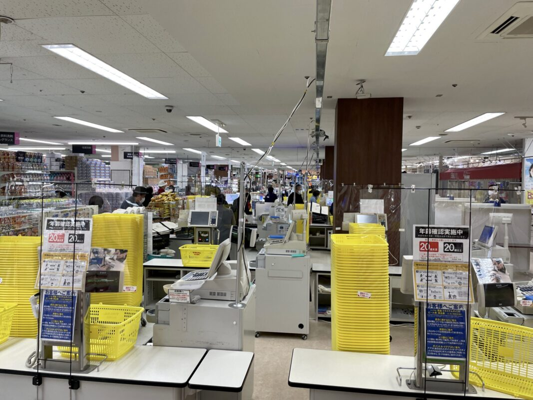 トライアル宇都宮店のレジ