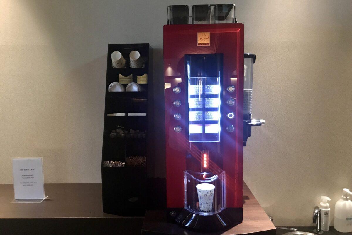 ホテルメッツ宇都宮の無料コーヒー